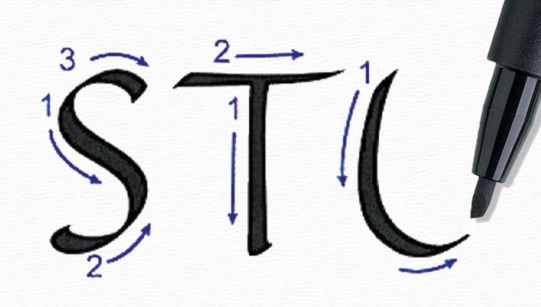 So lernen Sie die Grundtechniken der Kalligrafie und des Handletterings