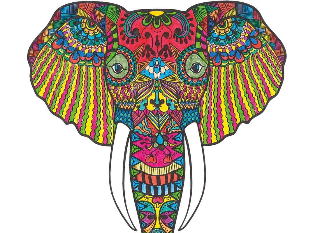 malvorlage mandala elefant  kinder ausmalbilder