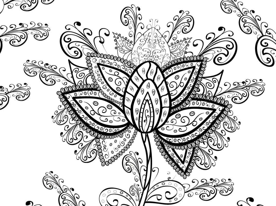 Malvorlagen Blumenmotive