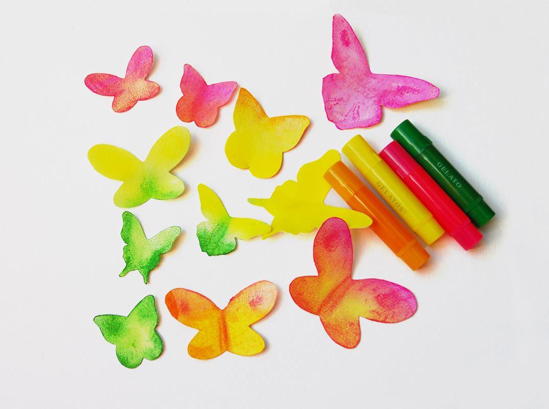 So Basteln Sie Schmetterlinge Mit Gelatos