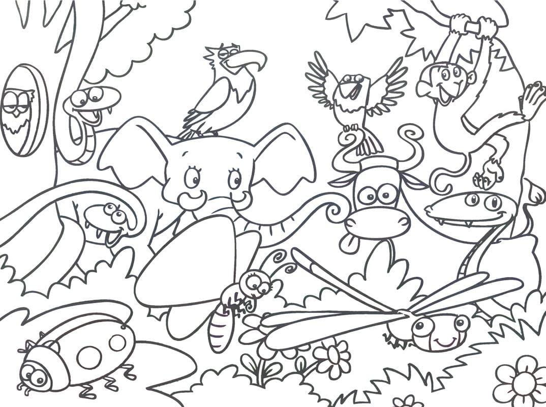 jungle tier malvorlage | Coloring and Malvorlagan