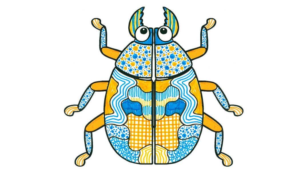 So malst du Käfer aus