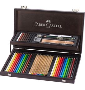 Faber-Castell - Art & Graphic Compendium Holzkoffer, 53-teilig
