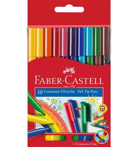 Faber-Castell - Filzstift Connector 10er Kartonetui