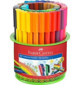 Faber-Castell - Connector Filzstift- Set Köcher, 55-teilig
