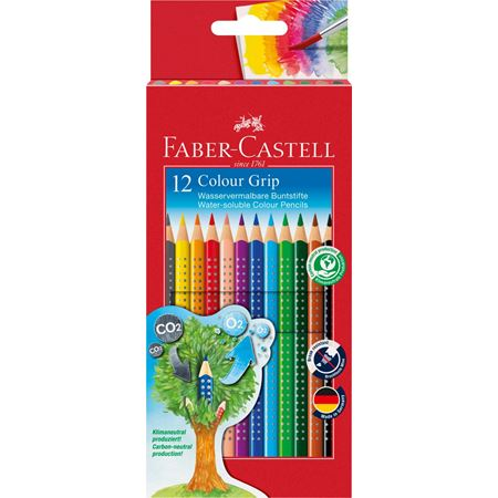 Faber-Castell - Colour Grip Buntstift, 12er Kartonetui