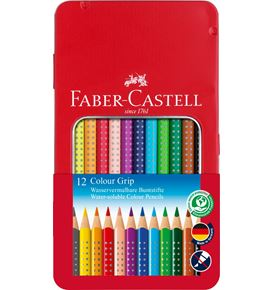 Faber-Castell - Buntstift Colour Grip 12er Metalletui