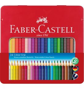 Faber-Castell - Buntstift Colour Grip 24er Metalletui