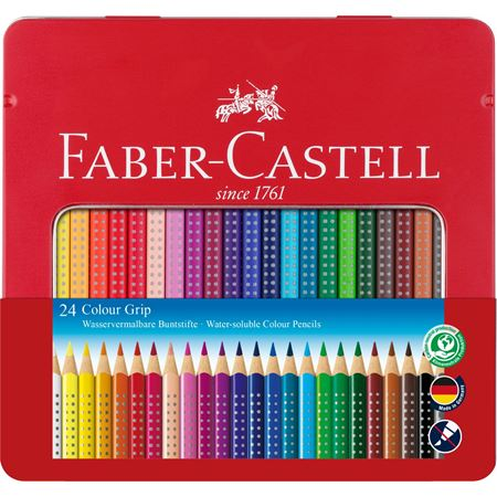 Faber-Castell - Colour Grip Buntstift, 24er Metalletui