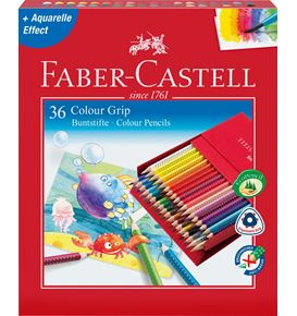 Faber-Castell - Colour Grip Buntstift, 36er Atelierbox