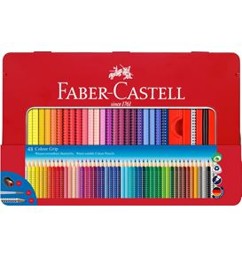 Faber-Castell - Buntstift Colour Grip 48er Metalletui mit Accessoires