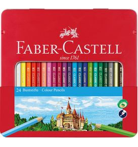 Faber-Castell - Classic Colour Buntstift, 24er Metalletui