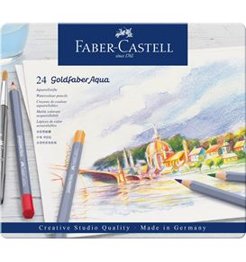Faber-Castell - Aquarellstift Goldfaber Aqua 24er Metalletui