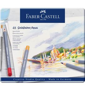 Faber-Castell - Goldfaber Aqua Aquarellstift, 48er Metalletui