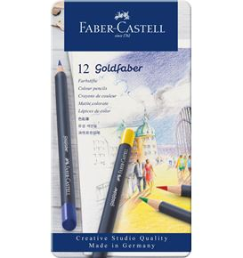 Faber-Castell - Goldfaber Farbstift, 12er Metalletui