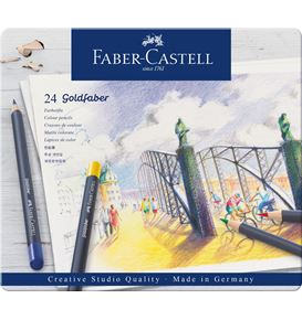 Faber-Castell - Goldfaber Farbstift, 24er Metalletui