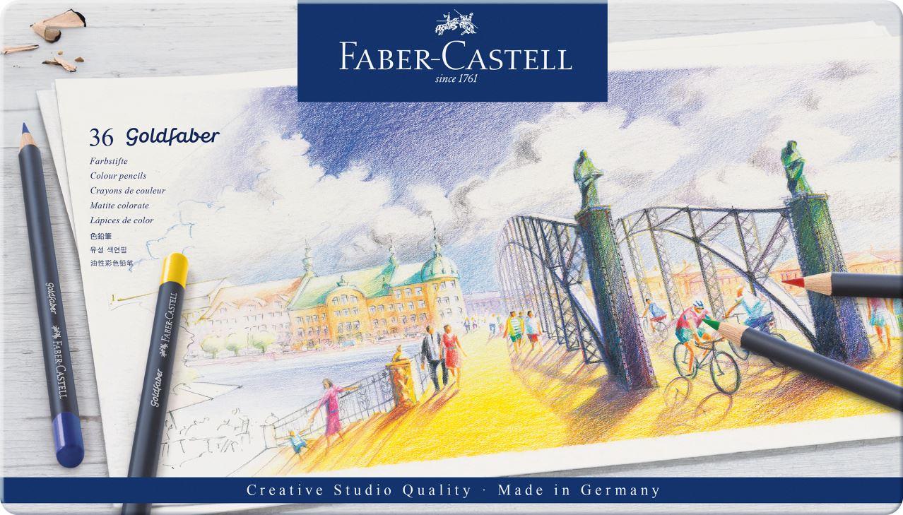 FABER-CASTELL Aquarellstifte GOLDFABER 36er Metalletui