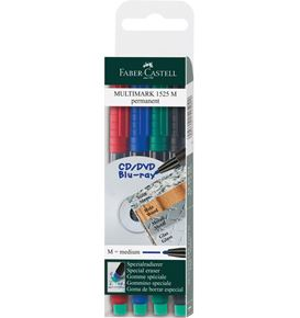 Faber-Castell - Marker Multimark permanent Medium 4er Etui