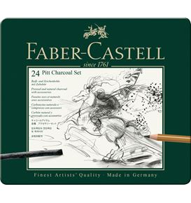 Faber-Castell - Pitt Charcoal Set, 24er Metalletui
