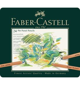 Faber-Castell - Pitt Pastellstift, 24er Metalletui