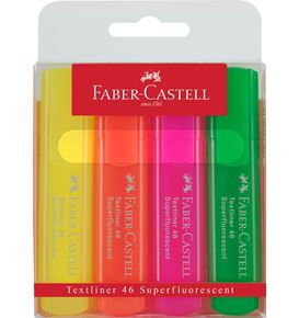 Faber-Castell - Highlighter Textliner 46 Superfluorescent 4er Etui