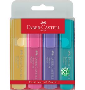 Faber-Castell - Highlighter Textliner 46 4er Superfluorescent + Pastell