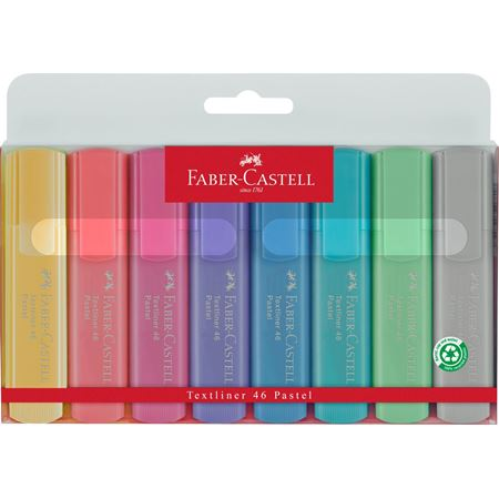 Faber-Castell - Highlighter Textliner 46 8er Superfluorescent + Pastell