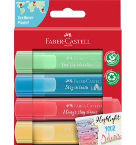 Faber-Castell - Textmarker TL 46 Pastell Promo 4er Pappe