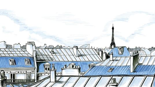 The rooftops of Paris illustrated with PITT artist pens