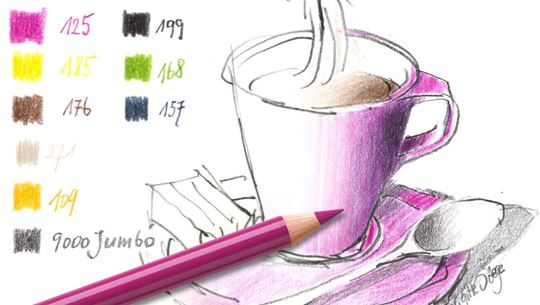 Colouring pages (medium): Espresso Cup