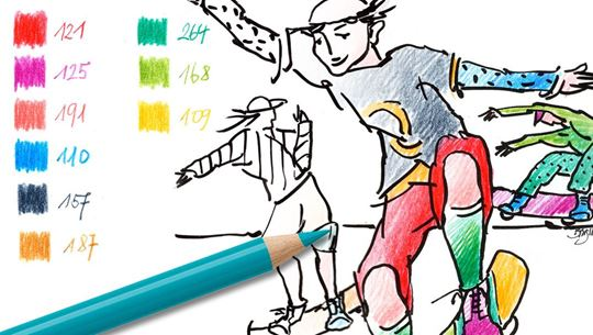 Colouring pages (easy): Skater