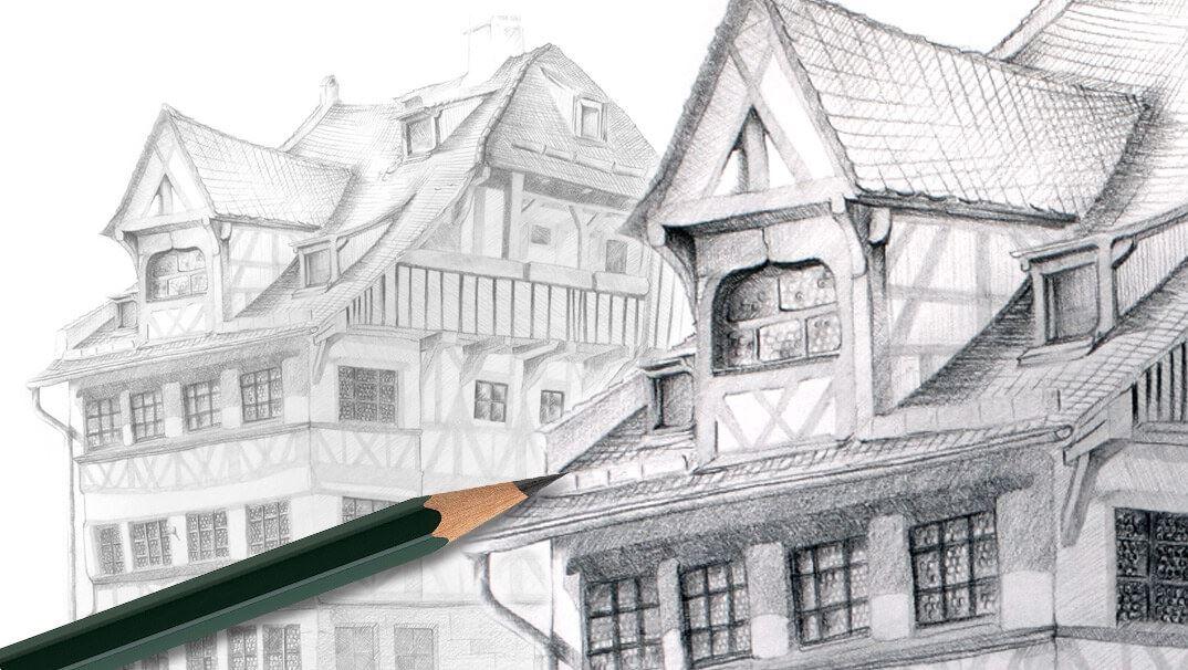 So kann das faber castell schloss ausgemalt werden - Architektur zeichnen ...